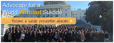 Advocate for a world without suickide; become an advocate. Sept 10 is world suicide prevention day